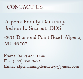 Alpena Family Dentist Contact